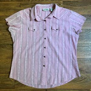 Wrangler Pink Southwestern Ranch Shirt Buttons